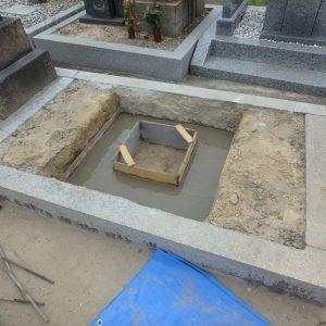 石碑工事の日程について