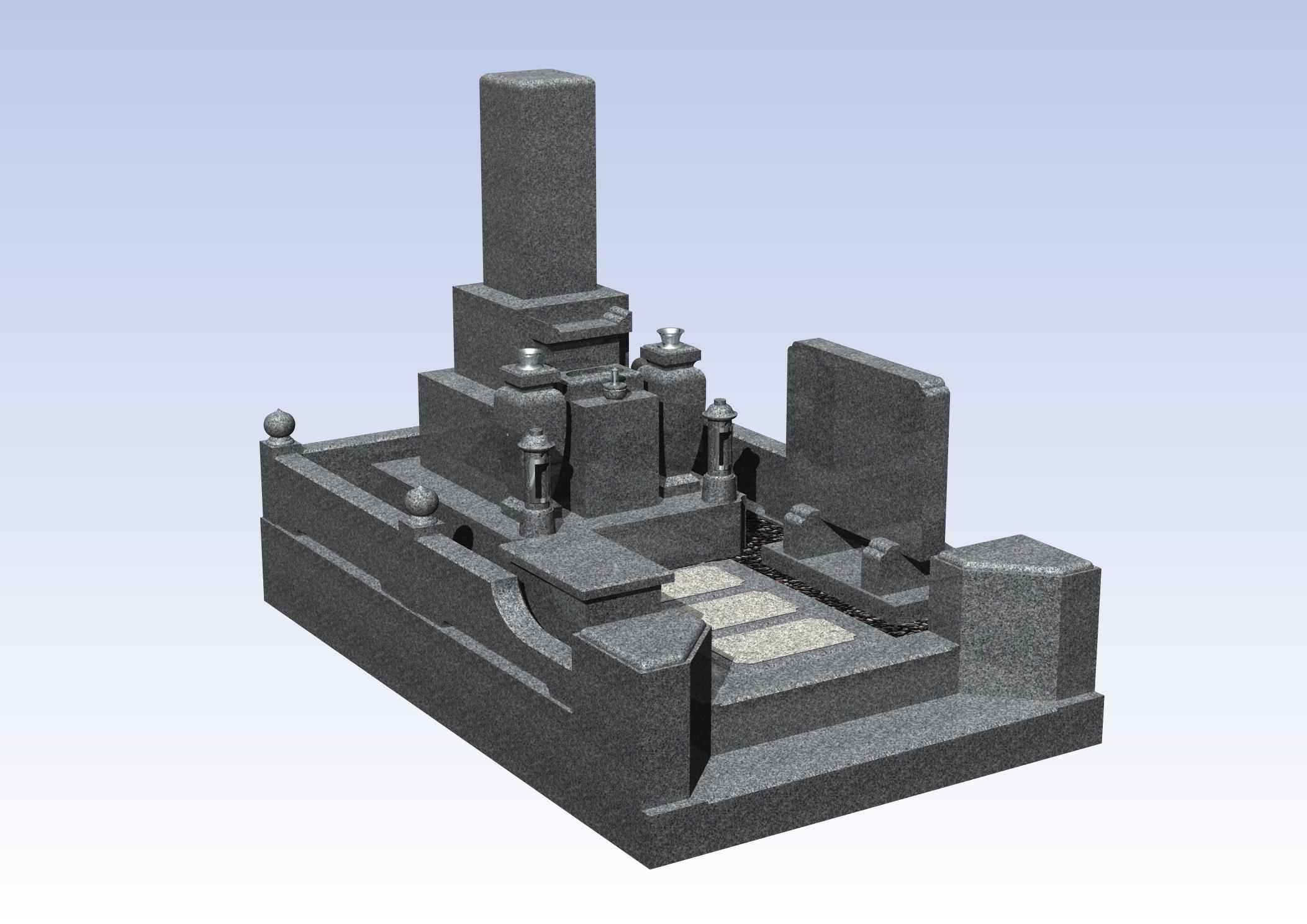 施工例3㎡以上2-30 岸和田 山直中町墓地のBefore画像