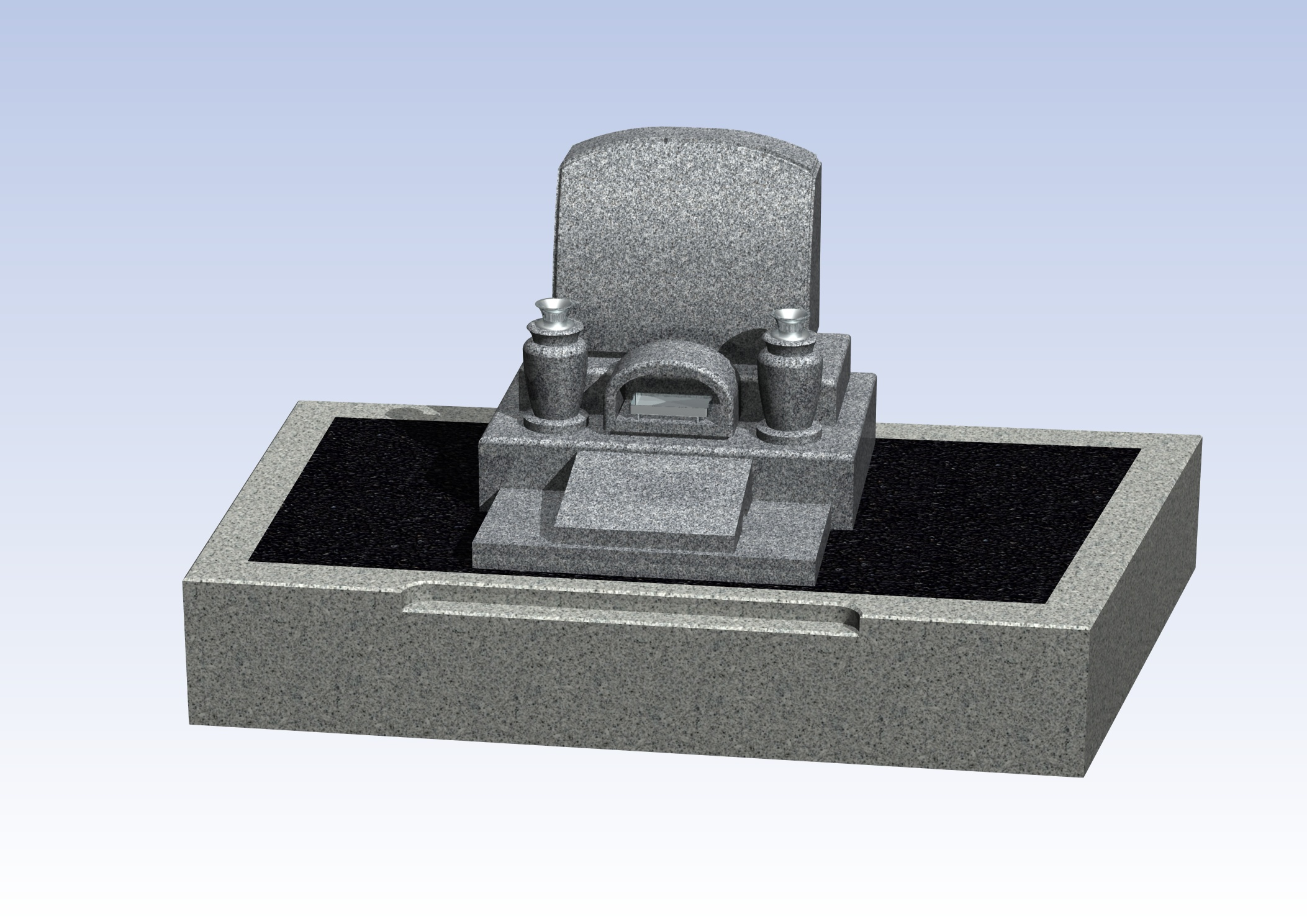 施工例洋型デザイン3-2 西宮市 満池谷墓地のBefore画像