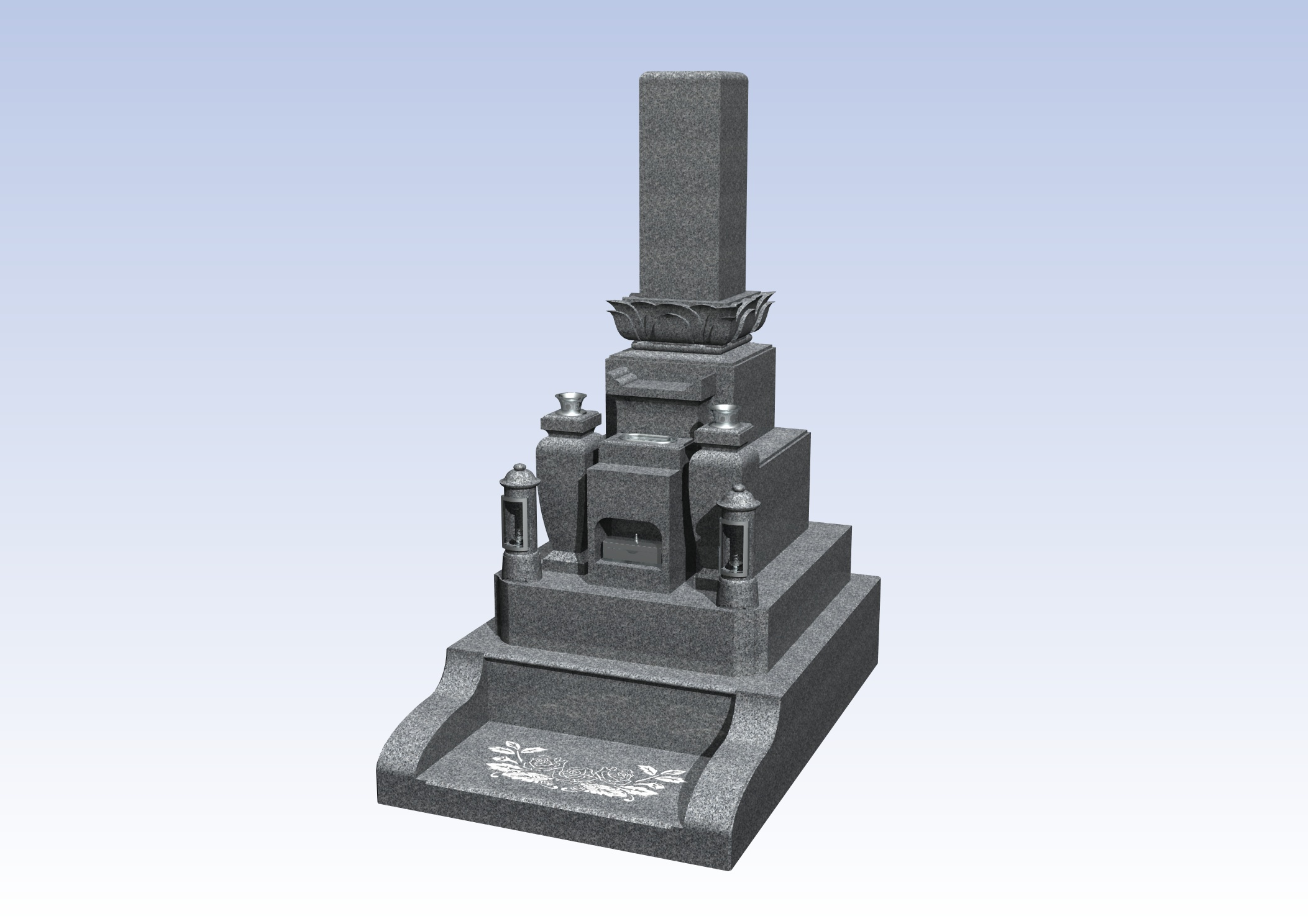 施工例3㎡未満1-8 和泉市 信太山墓地のAfter画像