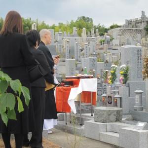 奈良県 小泉共同墓地で開眼法要。