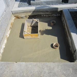 堺市中区 地域墓地での工事。
