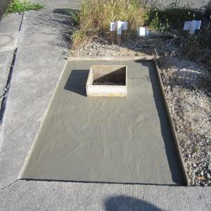 和泉市設墓地での基礎工事。
