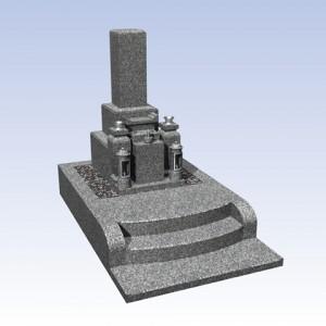 2.4㎡区画モデル 和型石碑 標準セット