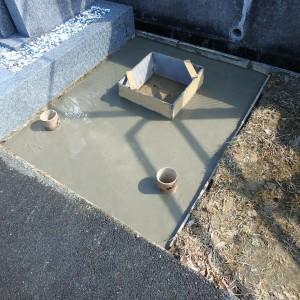 大阪狭山市 民営霊園で基礎工事。