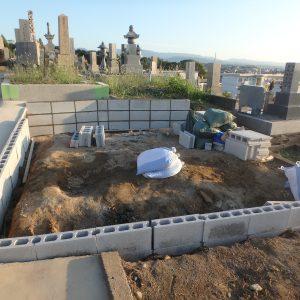 和泉市でのお墓の建て替え工事
