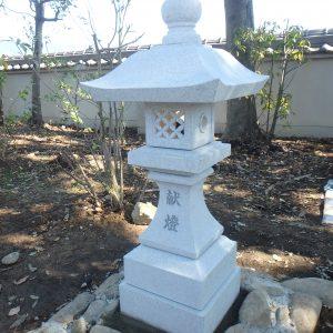 和歌山県橋本市で、神前灯籠の施工