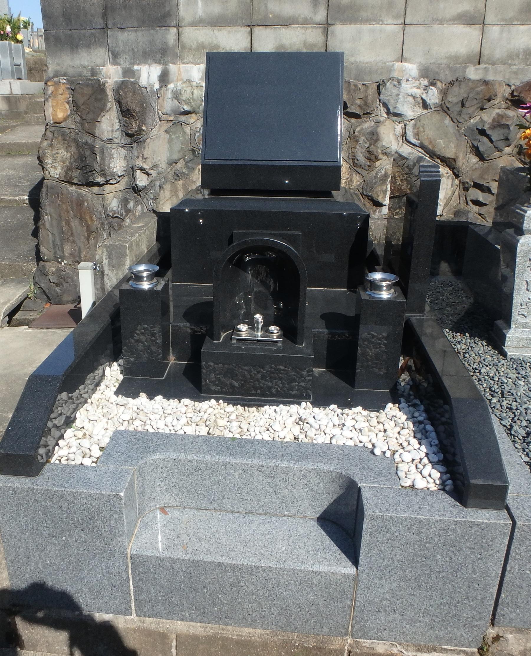 洋型デザイン墓石施工例3-34/宇治市村墓地のBefore画像
