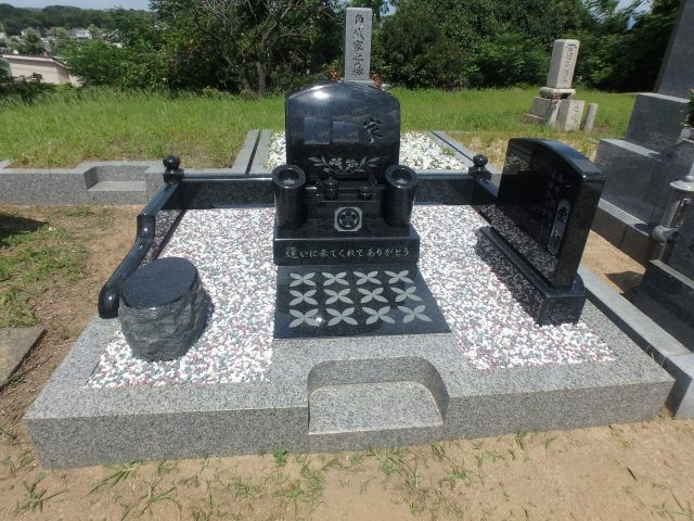 洋型墓石施工例/堺市南区村墓地3-35