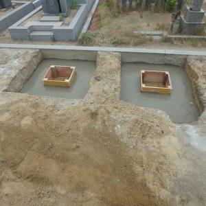 泉大津市・堺市西区・堺市南区でお墓工事。