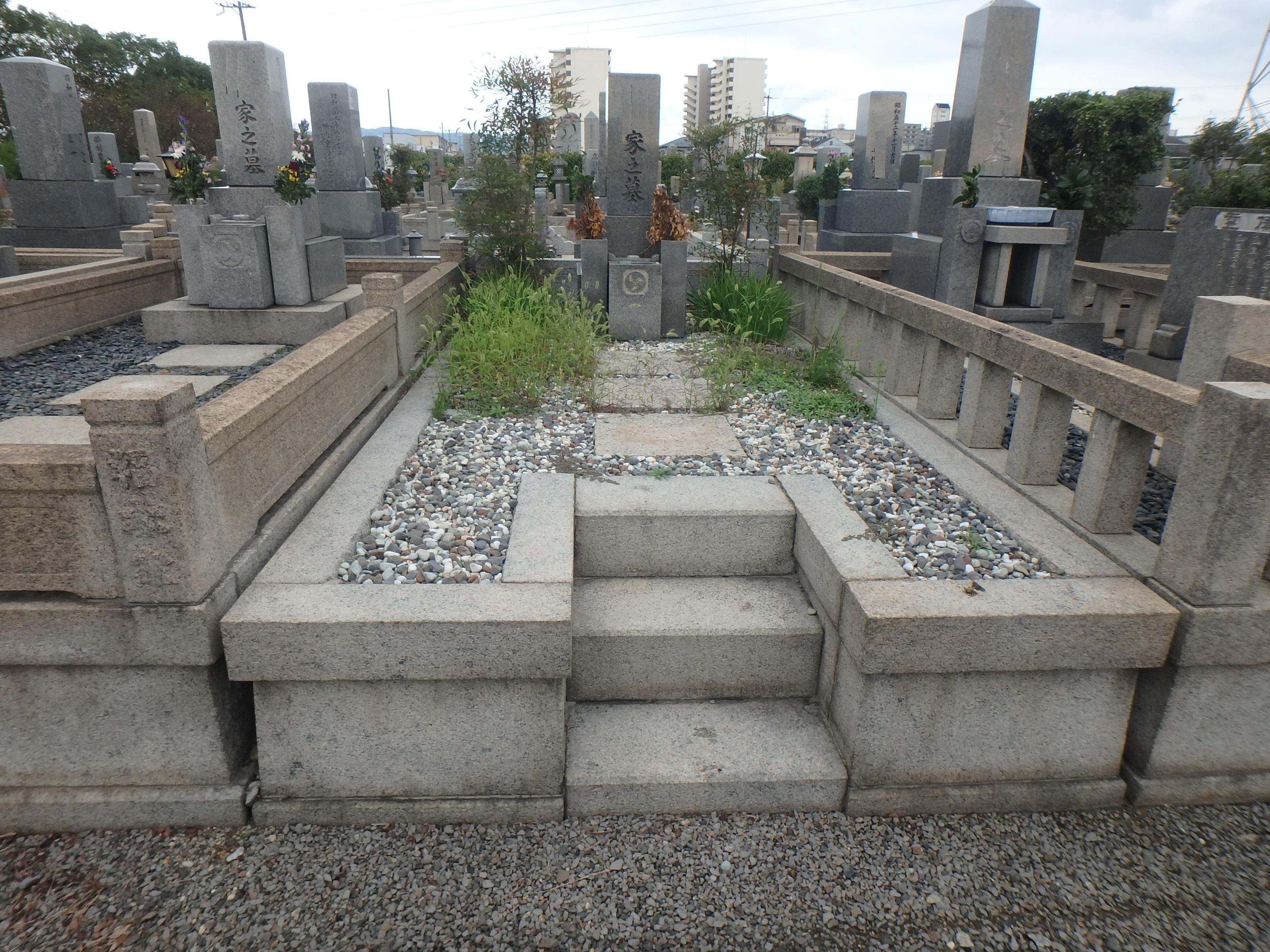 洋型墓石施工例/大阪市瓜破霊園3-37のBefore画像