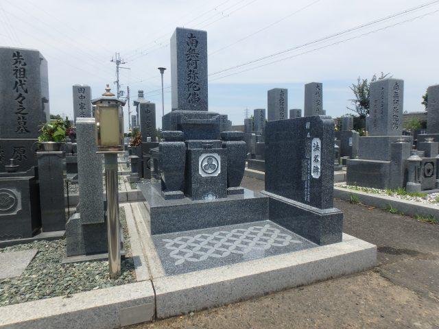 お墓施工例1-46板原墓地 佐賀県天山石特級(銀鋼)でのお墓施工