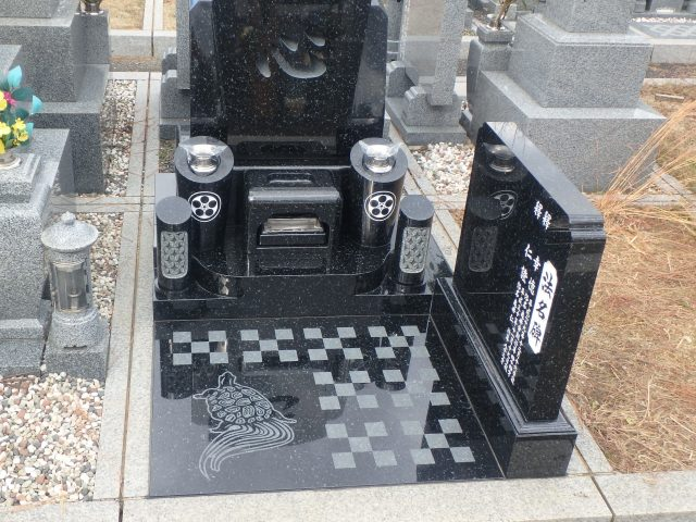 洋型墓石施工例3-37