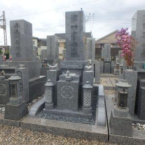 八尾市で『庵治石細目極上石』の石碑工事