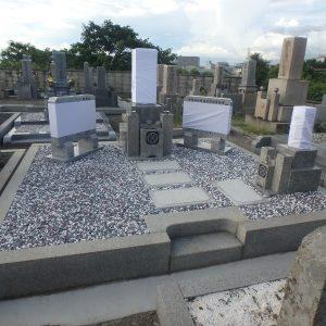 堺市西区で墓所内整理・石碑修復工事