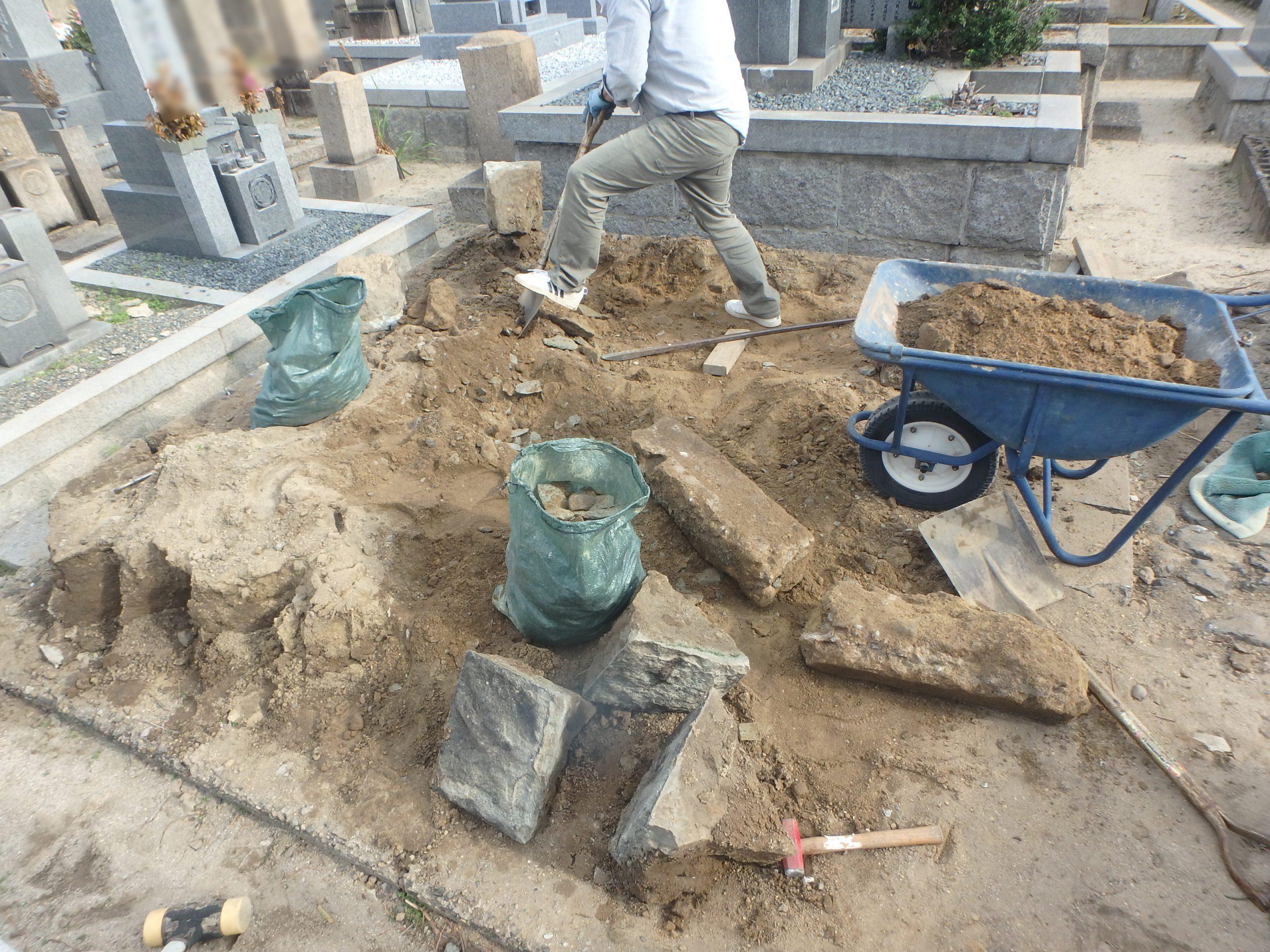 墓じまい施工例9-2 摂津市 地域墓地の詳細画像3