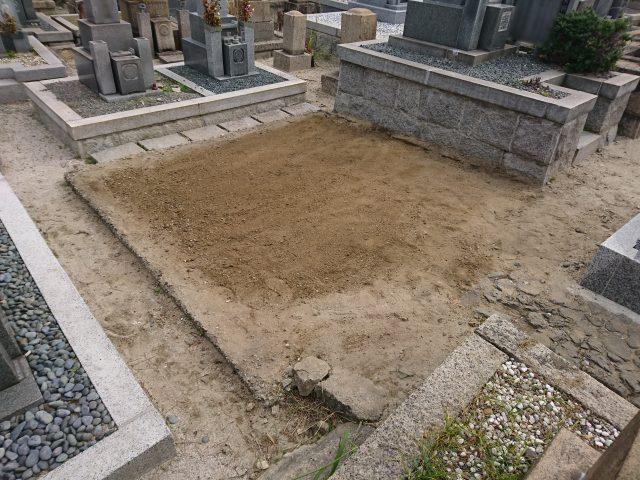 墓じまい施工例9-2 摂津市 地域墓地