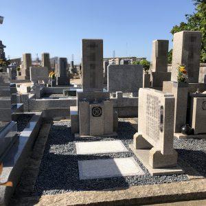 堺市西区で石碑傾き直し『泰震』施工でより強固に頑丈に修復工事