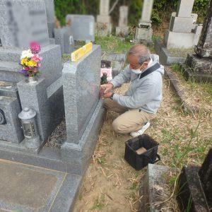 新型コロナウイルス対策の中で、お墓の点検