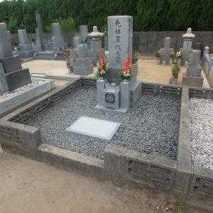 ご遺骨を収める所がない!?お墓を養生解体し、納骨室を新設するお墓工事