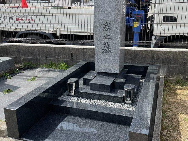 施工例3-46 堺市深阪墓地 デザイン墓石