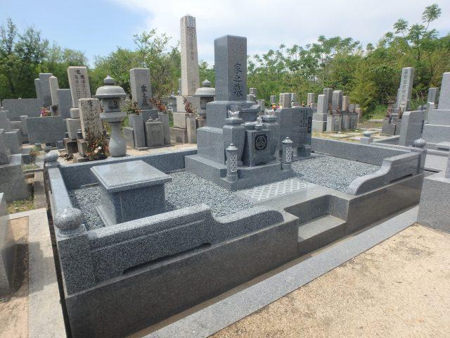 施工例2-51 堺市西区 地域墓地にてお墓の立て替え。